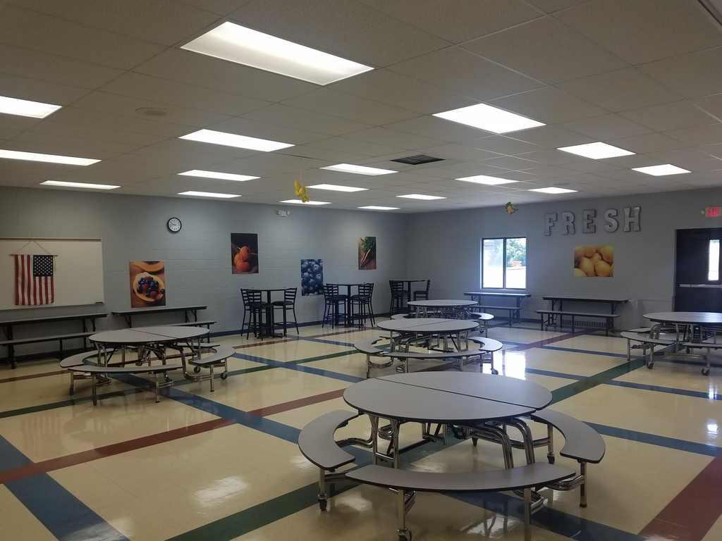 Cafeteria Update:  New Tables & Artwork