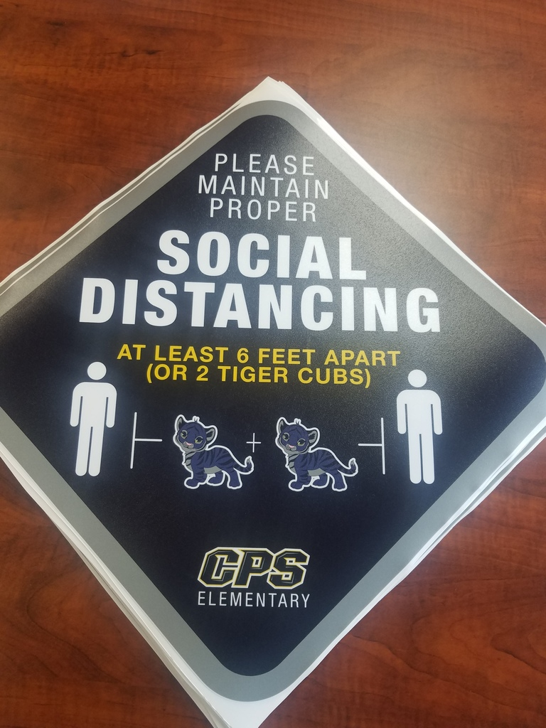 Social Distancing Stickers