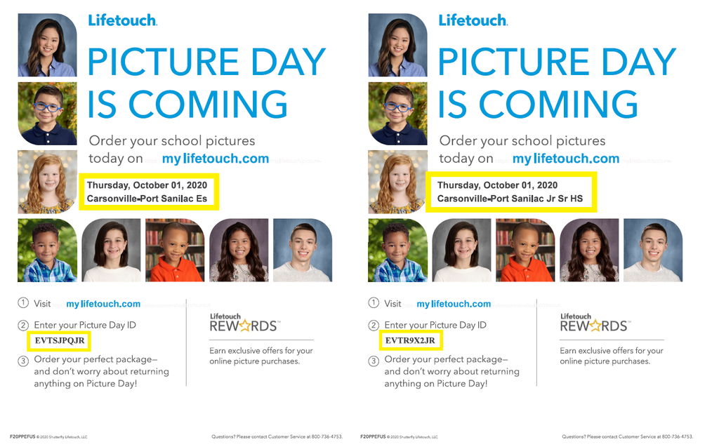 Picture Day Information