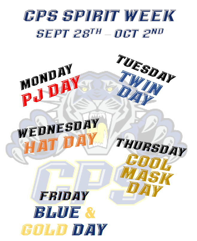 Spirit week dress up days