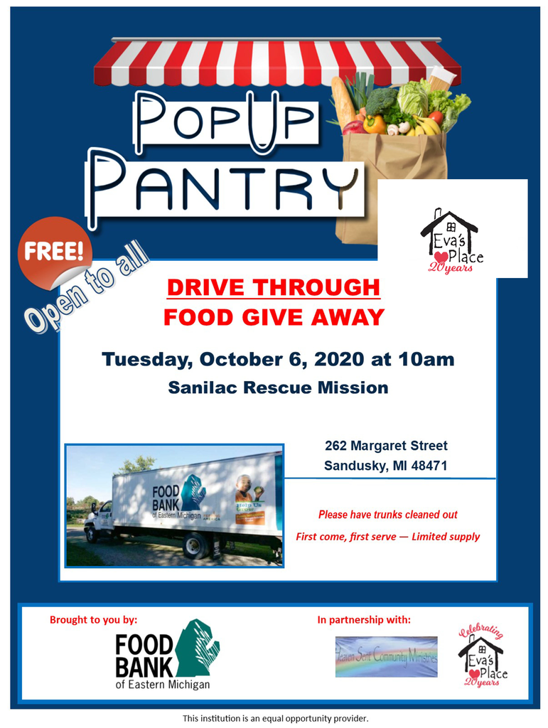 Food Give Away October 6, 2020